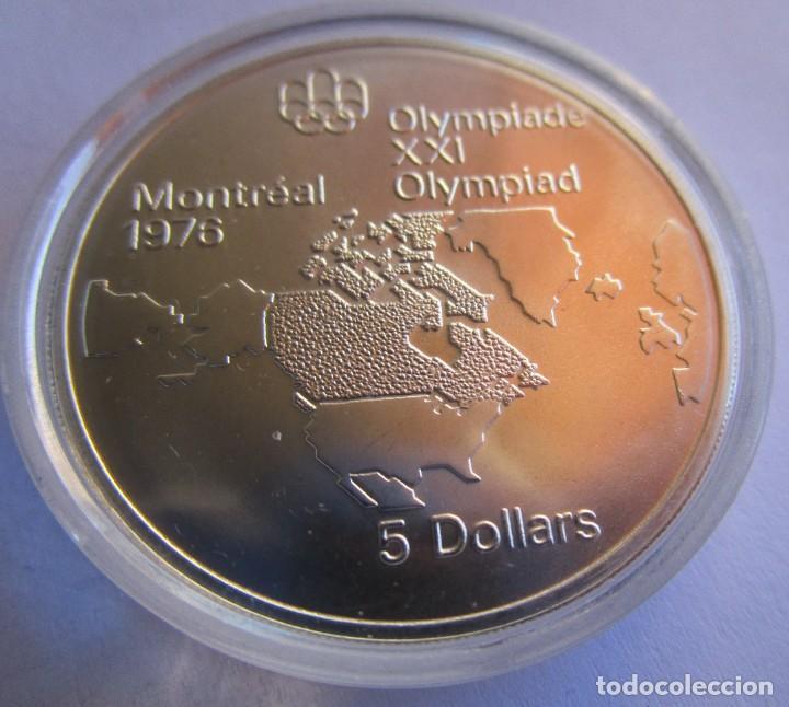 CANADA . 5 DOLARES DE PLATA . XXI OLIMPIADA DE MONTREAL .TOTALMENTE NUEVA (Numismática - España Modernas y Contemporáneas - Juan Carlos I)