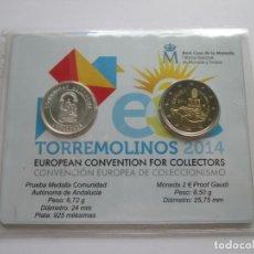Monedas Juan Carlos I: JUAN CARLOS I * CARTERA OFICIAL FNMT TORREMOLINOS 2014 * 2€ GAUDI + MEDALLA ANDALUCIA * PLATA. Lote 244011705
