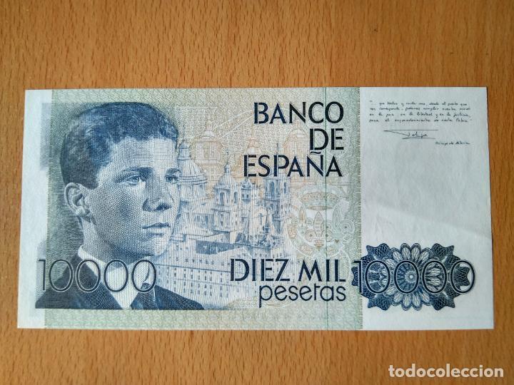 Monedas Juan Carlos I: BILLETE 10000 PESETAS BANCO DE ESPAÑA MADRID AÑO 1985 JUAN CARLOS I PRINCIPE ASTURIAS EL ESCORIAL - Foto 4 - 244012805