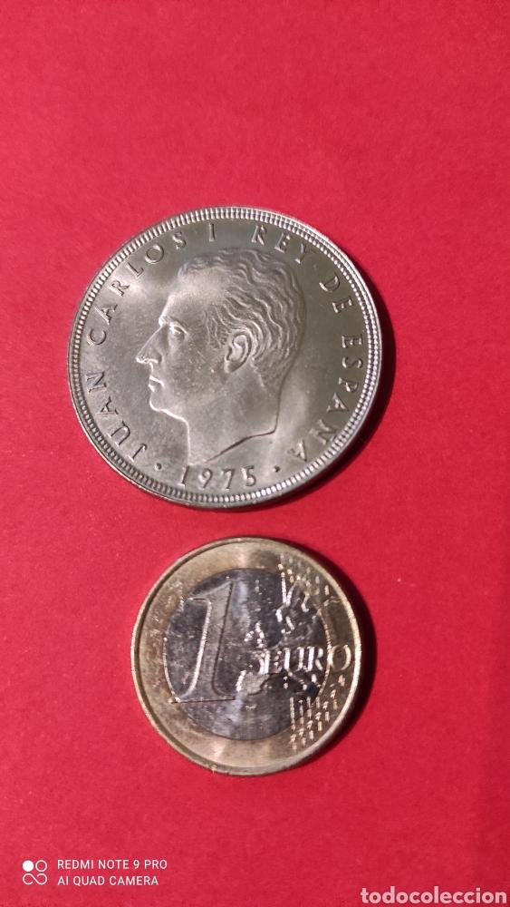 Monedas Juan Carlos I: MONEDA 100 PESETAS JUAN CARLOS I REY DE ESPAÑA. 1975 (76). AGUILA. - Foto 2 - 244549860
