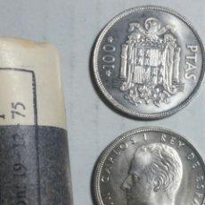 Monedas Juan Carlos I: LOTE DE 3 MONEDAS DE 100 PESETAS 1975*76 SC DE CARTUCHO. Lote 244781150