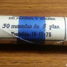 Monedas Juan Carlos I: MONEDA DE 5 PESETAS 1975*76 CARTUCHO NUEVO. Lote 244947290