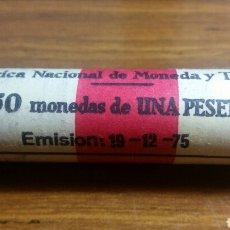 Monedas Juan Carlos I: MONEDAS DE PESETA JUAN CARLOS I 1975*76 CARTUCHO SC. Lote 244947835