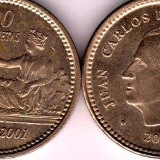 Monedas Juan Carlos I: ESPAÑA BONITA MONEDA 100 PESETAS CONMEMORATIVA 1869-2001 ESTADO S/C-FDC-ULTIMA EDICIÓN----. Lote 245132130