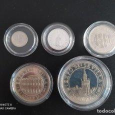 Monedas Juan Carlos I: SERIE DE 5 MONEDAS DE 100, 200, 500, 1000 Y 2000 PTAS..EXPO DE SEVILLA 92.. 52,70 GRAMOS DE PLATA EN. Lote 246021455