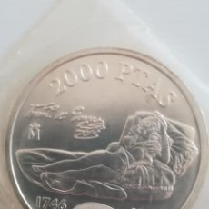 Monedas Juan Carlos I: MONEDA 2000 PESETAS ESPAÑA FNMT 1996 MAJA PLATA EN FUNDA DEL BANCO. Lote 246567965