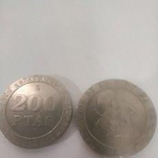 Monedas Juan Carlos I: MONEDAS DE 200 PESETAS DE COLECCIÓN DOS MONEDAS. Lote 247540755