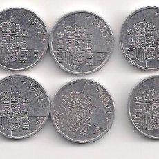 Monedas Juan Carlos I: ESPAÑA - SERIE DE 10 MONEDAS DE 1 PESETA AÑOS 1989/90/91/92/93/94/95/96/97/98. Lote 247688335