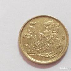 Monedas Juan Carlos I: MONEDA ESPAÑA. 5 PESETAS. DURO. AÑO 1997. ISLAS BALEARES. MENORCA. Lote 247764605
