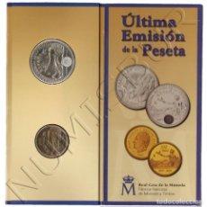 Moedas Juan Carlos I: 2000 PLATA + 100 PESETAS ESPAÑA 2001 ULTIMA EMISION DE LA PESETA CARTERA OFICIAL. Lote 248011405