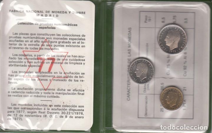JUAN CARLOS I: CARTERA MONEDAS AÑO 1977 / FNMT (Numismática - España Modernas y Contemporáneas - Juan Carlos I)