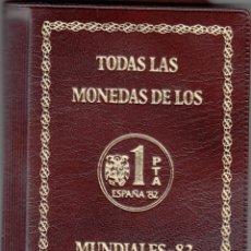 Monedas Juan Carlos I: JUAN CARLOS I: CARTERA MONEDAS AÑO 1980 ESTRELLA 80 - 81 - 82 - MUNDIAL FUTBOL / SIN CIRCULAR. Lote 248436835