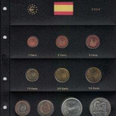 Monedas Juan Carlos I: JUAN CARLOS I. AÑO 2004 COMPLETO. SE VENDE INCLUIDA LA HOJA DE PARDO.. Lote 251471380