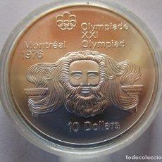 Moedas Juan Carlos I: CANADA .10 DOLARES DE PLATA . XXI OLIMPIADA DE MONTREAL . GRAN TAMAÑO Y PESO . 48,60 G. SIN CIRCULAR. Lote 252581605