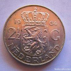 Moedas Juan Carlos I: HOLANDA . 2 1/2 GULDEN DE PLATA MUY ANTIGUOS . AÑO DE 1964 . PIEZA SIN CIRCULAR. Lote 252586095
