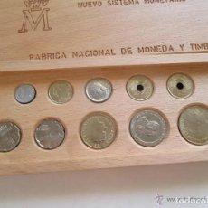 Monedas Juan Carlos I: NUEVO SISTEMA MONETARIO FNMT SERIE COMPLETA 1990. ESTUCHE MADERA. 10 MONEDAS. SC. SIN CIRCULAR. Lote 253353585