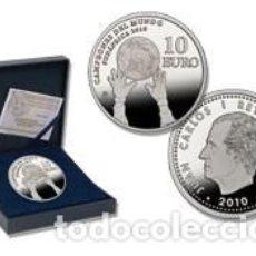 Monedas Juan Carlos I: ESPAÑA FNMT - PROOF - 10 EUROS. 2010. CAMPEONES MUNDIAL SUDAFRICA. PLATA.. Lote 253354420