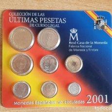 Monnaies Juan Carlos I: COLECCIÓN ÚLTIMAS PESETAS 2001. Lote 255002230