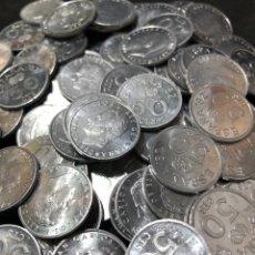 Monedas Juan Carlos I: 100 MONEDAS DE 50 CÉNTIMOS MUNDIAL DEL 82- MUCHAS EBC + Y ALGUNAS SIN CIRCULAR. Lote 255661320