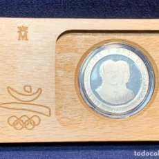 Monedas Juan Carlos I: MONEDA 2000 PTAS 1991 XXV OLIMPIADA BARCELONA 1992 EN CAJA ESTUCHE TENISTA 4CMS. Lote 256161250