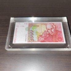 Monedas Juan Carlos I: NULO!! MUY RARO BILLETE DE ESPAÑA DE 2000 PTAS CON PERFORACION DE NULO SIN CIRCULAR. Lote 257891760