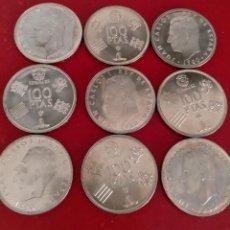 Monedas Juan Carlos I: LOTE DE 9 MONEDAS DE 100 PESETAS - JUAN CARLOS I 1980 (*80) SC. Lote 260024815