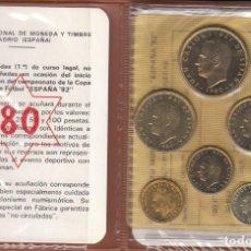 Monedas Juan Carlos I: JUAN CARLOS I: CARTERA MONEDAS AÑO 1980 ESTRELLA 80 - MUNDIAL FUTBOL / FNMT. Lote 260533105