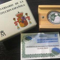 Monnaies Juan Carlos I: MONEDA PLATA ESPAÑA 1998 - XX ANIVERSARIO DE LA CONSTITUCIÓN ESPAÑOLA - 1000 PESETAS. Lote 260721690