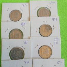 Monnaies Juan Carlos I: LOTE SERIE COMPLETA DE UNA PESETA DESDE 1982 A 1989.. ALGUNA SIN CIRCULAR. Lote 261149215