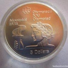 Monedas Juan Carlos I: CANADA . 5 DOLARES DE PLATA . XXI OLIMPIADA DE MONTREAL .TOTALMENTE NUEVA. Lote 261155685