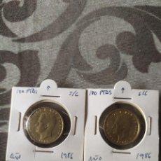 Monedas Juan Carlos I: PAREJA 100 PTAS. 1986 VARIANTE S/C. Lote 261523620