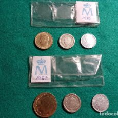 Monedas Juan Carlos I: (129) 2 SERIES DE PESETAS DE ESPAÑA (1986 - 1987) (SC). Lote 262131780