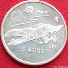 Monedas Juan Carlos I: ESPAÑA 5 EURO DE PLATA 1997 (HOMENAJE A LA AVIACIÓN ESPAÑOLA). Lote 262598095