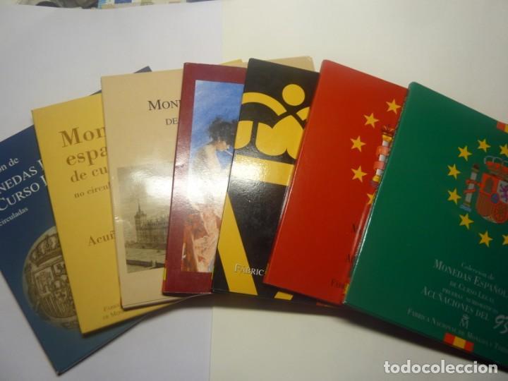 JUEGO DE 7 CARTERAS REY AÑOS. 1993-1994-1995-1996-1997-1998 Y 1999 (Numismática - España Modernas y Contemporáneas - Juan Carlos I)