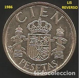 ESPAÑA 1986 - 100 PESETAS LIS REVERSO - KM 826 - CIRCULADA EBC (Numismática - España Modernas y Contemporáneas - Juan Carlos I)