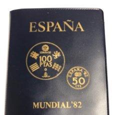 Monedas Juan Carlos I: CARTERA 6 VALORES PESETAS 1980 *80. MUNDIAL DE FÚTBOL. C5. Lote 265665494