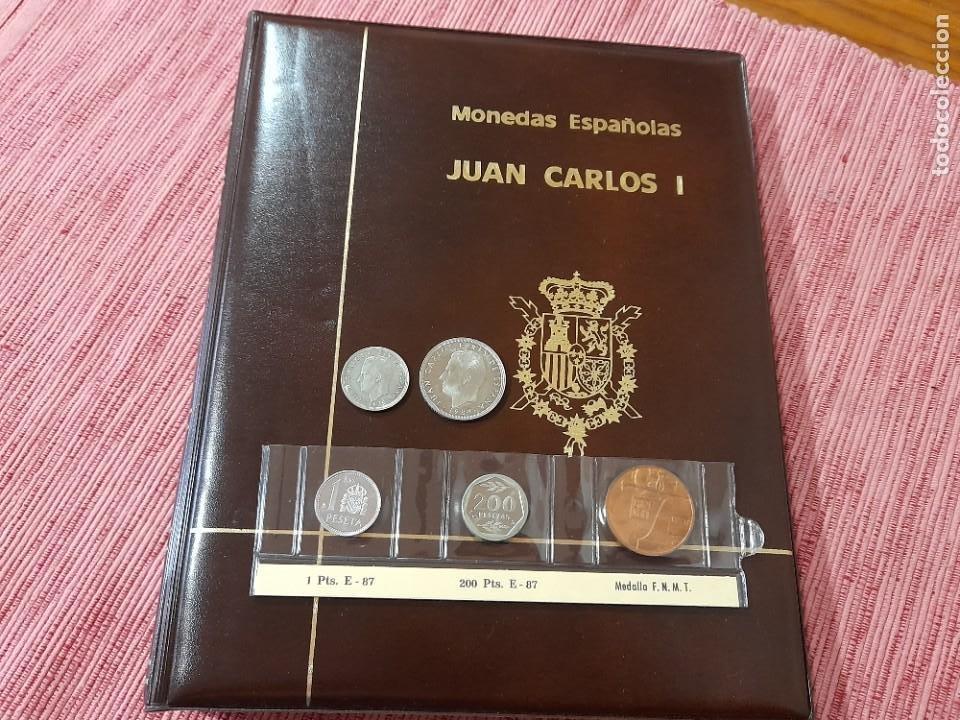 ALBUM CON MONEDAS DE JUAN CARLOS I. OJO!!! 5 PESETAS 1975*80, EL ERROR DEL MUNDIAL Y OTRAS RARAS,VER (Numismática - España Modernas y Contemporáneas - Juan Carlos I)