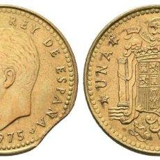 Monedas Juan Carlos I: *** BONITA 1 PESETA 1975 *77 JUAN CARLOS I. CON ERROR: SEGMENTADO ***. Lote 268867994