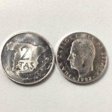 Monedas Juan Carlos I: 2 MONEDAS DE 2 PESETAS DE 1882 SIN CIRCULAR.. Lote 268870604