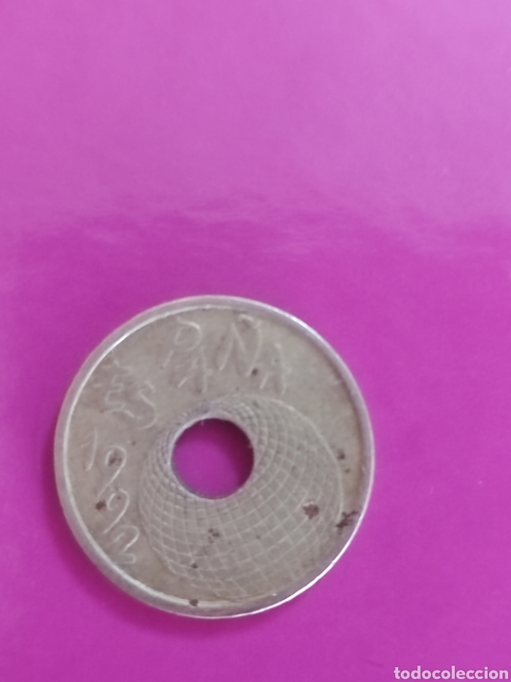 Monedas Juan Carlos I: Moneda de 25 pesetas de 1992 - Foto 2 - 269081233