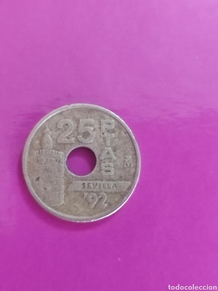 MONEDA DE 25 PESETAS DE 1992 (Numismática - España Modernas y Contemporáneas - Juan Carlos I)