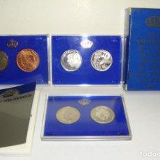 Monedas Juan Carlos I: PRUEBAS FÁBRICA MONEDA Y TIMBRE: XXV ANIVERSARIO DE LA BODA DE LOS REYES DE ESPAÑA. ALGUNAS DE PLATA. Lote 269797908