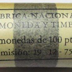Monedas Juan Carlos I: JUAN CARLOS I. 100 PESETAS 1975 * 19-76 CARTUCHO ORIGINAL DE LA F.N.M.T. CON 25 MONEDAS. LOTE 3842. Lote 272961708