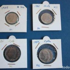 Monedas Juan Carlos I: LOTE 4 MONEDAS DE 50 CTS. Y 2 PTAS, ESTADO S.C., JUAN CARLOS. Lote 274394058