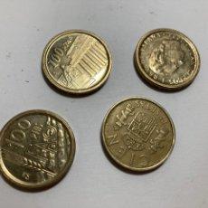 Monedas Juan Carlos I: LOTE DE 4 MONEDAS DE 100 PESETAS. Lote 276476373
