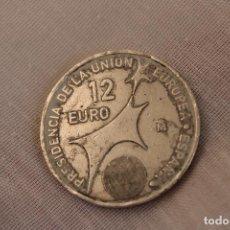 Monedas Juan Carlos I: MONEDA DE PLATA 12 EUROS, PRESIDENCIA DE LA UNIÓN EUROPEA AÑO 2002. Lote 276611483