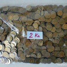 Monedas Juan Carlos I: BOLSA CON 2 KILOGRAMOS DE PESETAS(RUBIAS) DE JUAN CARLOS I. SIN CLASIFICAR POR FECHAS..CHILENA?. Lote 277176083