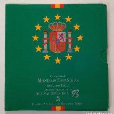 Monedas Juan Carlos I: CARTERA ESTUCHE OFICIAL FNMT 1993 8 MONEDAS SIN CIRCULAR EDICIÓN LIMITADA NUMERADA. Lote 277621183