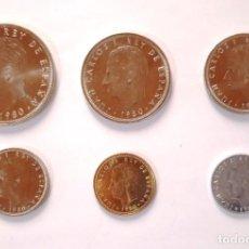 Monedas Juan Carlos I: SERIE COMPLETA EN TIRA DEL MUNDIAL 1982 AÑO 1980 6 MONEDAS SIN CIRCULAR. Lote 277621333
