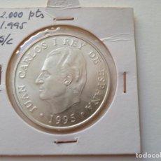 Monedas Juan Carlos I: JUAN CARLOS I. 2000 PESETAS 1995. SIN CIRCULAR, PROFF. (M30). Lote 277636183